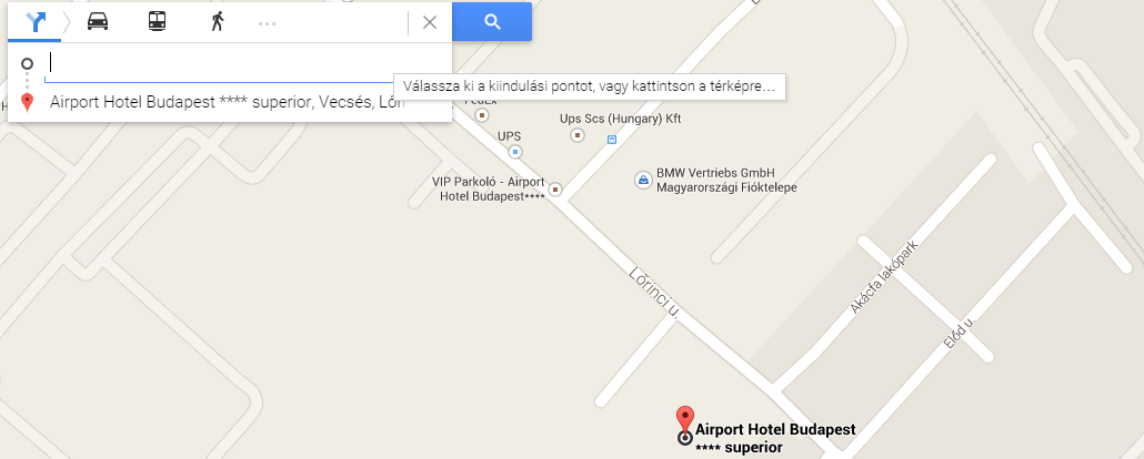 Airport Hotel Google Map